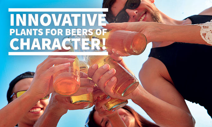 Innovative plants for beers of character!